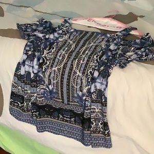 INC open shoulder blouse